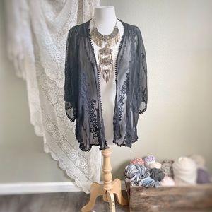 KIMCHI BLUE | UO Black Lace Kimono